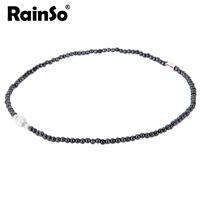 "Free Shipping Women Ncklace Elegant Style Hotsale Christmas Gift Healthful Magnetic Hematite Pendant Jewelry OHN-380A(4MM) 18"""