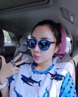 Wholesale Li Xiaolu star with reflective sunglasses sunglasses wholesale sunglasses for men and women