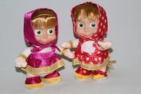 Cartoon Masha And Bear 22CM Masha Girl Toy Russian Hot Sale Dolls Singing Walking Recording Learning & Education Toys For Girls