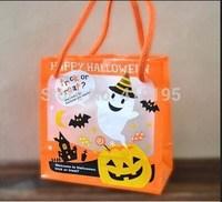 Free shipping wholesale 50pcs/lot 12*12+6cm Halloween gift plastic packaging bag,food packaging bag