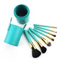 7 pcs Professional Makeup Brush Set tools Make-up Toiletry Kit Wool Brand Make Up Brush Set Case Free Shipping Z626