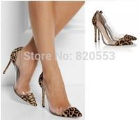 Popular Sexy Wedding Shoes  Womens High Heels Pointed Toe Pvc Horsehair Slip On pumps sapatos femininos