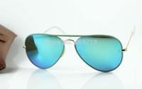 New Style Designer Sunglasses Men's/Women's Brand Name 3025-JM AVIATOR FULL 001/19 Green Sunglass Green Iridium Lens 58mm Box