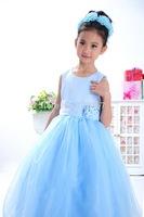 Children's clothing female child summer child baby long design formal dress one-piece dress flower girl wedding dress princess