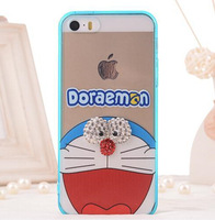 1 PCS Fashion Cute Cartoon TPU Bling Case For Iphone 4 4s Cover For Apple Phone 4g Case With Free Shipping