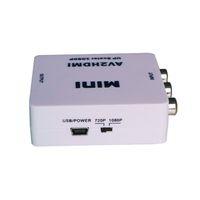 1080P AV CVBS RCA To HDMI Video Composite Converter For HDTV DVD SKY PS2 CCTV DVR New