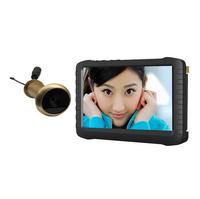 5.8G Wireless Door Peephole Camera DVR TE850H (90 degree VOA,100m range,5-inch screen;800X600pix;motion detect recording
