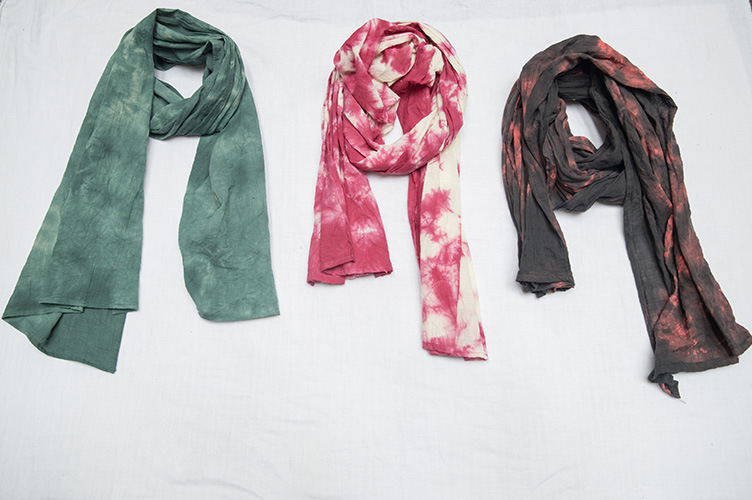 Scarf Original Design 2014 New Women hand- dyed Natural plant Long Two meters Cotton Linen Scarves Wraps(China (Mainland))