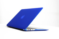 Fasion Slim BLUE Scrub Transparent For apple MBook AIR /Pro/Retina/White 13.3 Crystal Hard Plastic Shell Laptop Cover Case