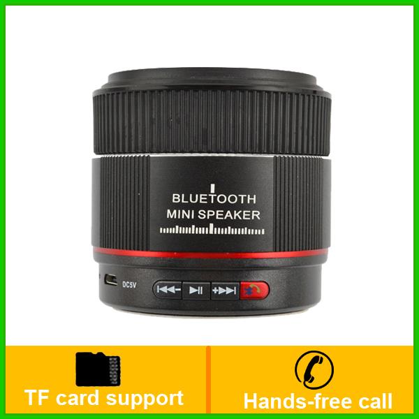 1pc Camera Shape Mini Bluetooth Speaker Portable Wireless Stereo Music Receiver TF Card MP3 Player(China (Mainland))