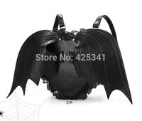New Black Bat heart backpack wing gothic goth punk lace lolita visual kei bag