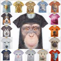 HOT ! New ! 3D t shrit women 2014 fashion t-shirt short sleeve o neck summer cotton tshirt 21 models free shipping