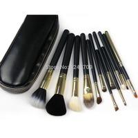 A5 12 PCS Pro Kits Cosmetic Brush Makeup Make Up Tool Dres+Black Bag Case T0011 P