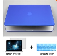 """Transparent crystal laptop case shell +silicone keyboard cover+LCD For Apple Macbook air Pro Retina11"""" 13 15 notebook NO LOGO"""