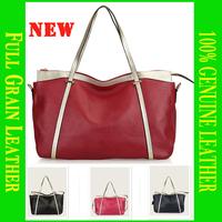 2014 Real Top Freeshipping Shoulder Bags Solid Zipper Women Bag Guarantee Leather Handbag Classic Bags Handbags Famous Brands