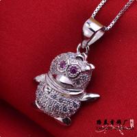 LSP879 Top fashion Cartoon pendants jewelry women silver zircon pendant, free shipping