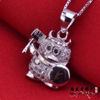 LSP884 cartoon 925 silver pendants women, free shipping