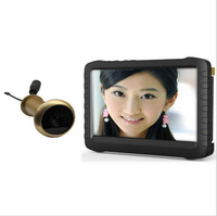 DHL free shipping high quality 5.8g wireless eye door camera DVR(90 deg brass cam,motion detect,loop recording)