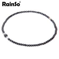 "Free Shipping Women Ncklace Elegant Style Hotsale Christmas Gift Healthful Magnetic Hematite Pendant Jewelry OHN-380B(6MM) 18"""