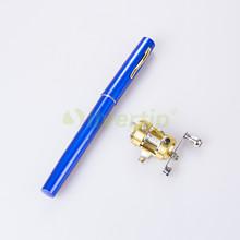 Free Shipping Mini Portable Pocket Pen Fish Fishing Rod Pole Reel Combo Baitcasting Coil Travel Kit