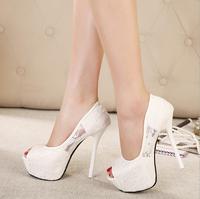 women's high heels platform sandals sexy sandals shoes open toe toe 14cm sy-676