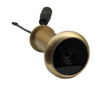 Free shipping 5.8g wireless camera peephole(pure brass material;13.8mm diameter;90 deg;0.008lux;100m range)