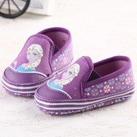 In Stock! Baby Girls Frozen First Walker, Toddler princess Anna prints shoes infant cute shoes 6pairs/lot d197