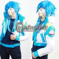 Free Shipping Customized Anime Dramatical Murder Seragaki Aoba Cosplay Costume( Coat +T-shirt+Belt+Shoe Cover)
