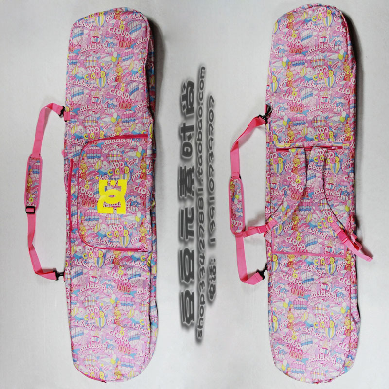 FREE SHIPPING lovely snowboards/skis bag pink+Balloons+Comic+155 cm+waterproof(China (Mainland))