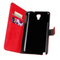 Retro Crazy Horse Leather Flip Case Wallet Credit Card Holder Cover for Samsung Galaxy Note 3 Lite N7505