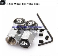 4caps automobile wheel anti-theft tire tyre valve cap cover for RACING car emblem badge logo airdust covers caps free shipping