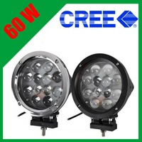 "12-24v 7"" Round 12LED 60W CREE Led driving light Off-road work light bar Modular Fog lamp 4X4 4WD ATV UTE SUV Truck Tractor Boat"