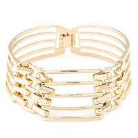 Min.Order $8.8(Mix Order) NEW 2014 Europe America Fashion Statement Beautiful Gold Alloy Women Cuff Bracelet Bangles FB0028