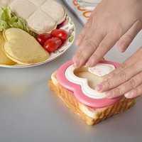 1PCS Lovely Sandwich Bread Toast Heart Mold Cutter Maker Mould Kitchen Breakfast DIY Free Shipping