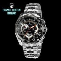 2014 Pagani Design(cx-0001) Military Watch Japan Quartz Classic Design 3ATM Dive Waterproof men stainless steel sports watches