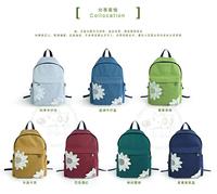 Free shipping 2014 new arrival fresh designer flower designer women's canvas backpack student school lace bag for teenager girls