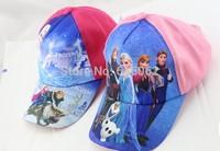Free shippingDHL130pcs/LOT frozen hat/cap,elsa,anna baseball cap,peaked cap,best gift to kids.