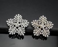 Free Shipping 3pcs  New Korea Brand Design Snowflake Rhinestones Women Wedding Brooches Pins