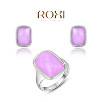 ROXI rainbow color fashion women jewelry sets,Austrian crystal,Nickeless jewelry,free shipping,wholesale,best Christmas gifts