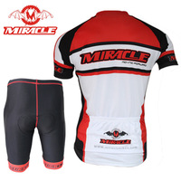 2014 New MIRACLE Sportswear Cycle Clothes Short Sleeve clothing Bicycle Cycling Wear bike Cycling Jersey+short pants
