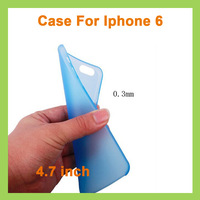 New Arrival 0.3mm Thin Slim Matte Frosted Transparent Clear Soft PP Cover Case for iPhone6 i6 4.7 inch 1000pcs/lot