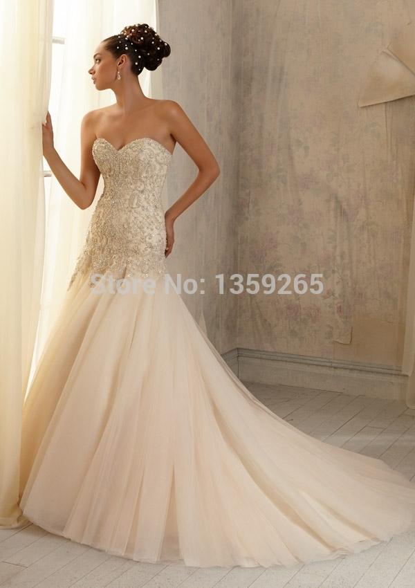 Hot Sale2014 ArrivalFree Shipping 2014 Fairytale Wedding Dresses Beading Bridal Gown Vestido De Noivarobe De Mariage Party Dress(China (Mainland))