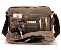 High Quality Multifunction Men Canvas Bag Casual Travel Bolsa Masculina Crossbody Shoulder Bag Multi Pocket Messenger Bags 39181