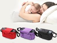 Waterproof Baby stroller storage bag mummy nursery bags newborn carriage organizer feeder nappy pouch free shipping