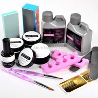 Hot ! Manicure set Acrylic liquid with Nail gel nail primer brush clipper tool set For Nail art