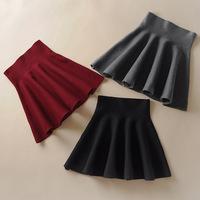 high quality women skirt 2014 Spring new Korean cotton knit high waist skirts pleated skirt