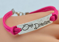 Free Shipping New Arrival  fashion antique silver one direction bracelets & bangles infinity charm Bracelet  For Women