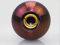 100% High Grade 46 mm Titanium Ti Burnt Rainbow Gradient Gear Shift Knob(Sand Sprayed Or Specular) M12X1.25