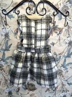 baby Children's clothing wholesale autumn girl woolen dress princess girls plaid dresses