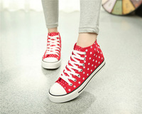 Free shipping 2014 New coming canvas shoes outside WITH stars and Lace up Nice experience when you WEAR